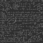 Physical formulas on seamless blackboard — Stock Vector