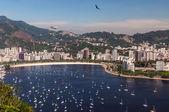 Botafogo beach y la bahía de guanabara rio de janeiro, brasil — Foto de Stock