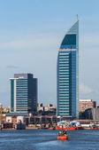 Torre de las Comunicaciones or Antel Tower is a 157 meter tall b — Stock Photo