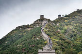 The Great Wall of China on a cloudy day — Stock Photo