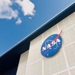 Sign on NASA John F Kennedy Space Center — Stock Photo