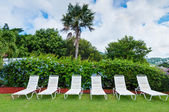 Lounge chairs, Resort Life — Stock Photo