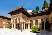 Lions Patio in Alhambra, Granada, Spain — Stock Photo