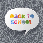 Back to school abstract background. Vector illustration, EPS10 — Stock vektor