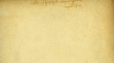 "Specific handwriting of Leonardo da Vinci (mirror), right to left. Based on type part of famous ""vetruvian"" picture. Background animation, HD — Stock Video"