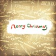 Retro Christmas greetings in different languages. Vector, EPS10 - Stock Vector