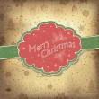 Merry Christmas vintage background. Vector illustration, EPS10. — Stock Vector