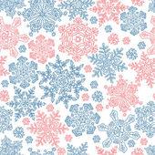 Modello di fiocchi di neve senza soluzione di continuità per disegni a tema invernale. vector il — Vettoriale Stock