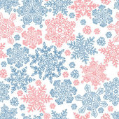 Seamless snowflakes pattern for winter themed designs. Vector il — Stock Vector