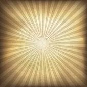 Retro brown sunburst background. Vector illustration, EPS10. — Stock Vector