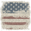 Vintage usa flag background with isolate grunge borders. Vector — Stock Vector