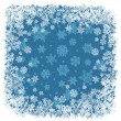 Snowflakes frame blue. Vector background, EPS8 — Stockvectorbeeld