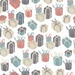 Gift boxes seamless pattern. VEctor illustration, EPS8 — Stock vektor