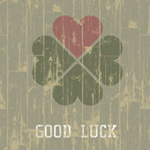Good luck. St. Patrick's Day concept. Vector, EPS10. — Stockvektor