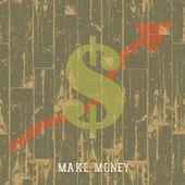 Dollar sign with arrow, business growing concept. VEctor illustr — Stock Vector