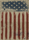 Aged American Patriotic Background. Vector illustration, EPS10. — Vecteur