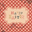 Vector de stock : Happy easter retro greeting card. Vector, EPS10