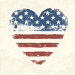 Royalty-Free Stock Vector Image: Heart shaped american flag. Vector, EPS10