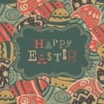 Vintage easter greetings. Vector, EPS10 — Stock Vector #22684495
