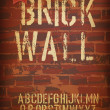 Brick wall design template. Vector, EPS10 — Stock Vector #22684753