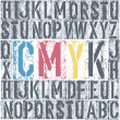 CMYK letterpress poster. Vector, EPS8 — Stock Vector #22684869