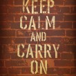 The words keep calm and carry on. Vector, EPS10 - Stock Vector