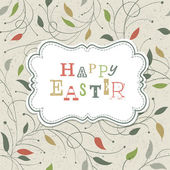 Happy easter retro leuke groet. vector, eps10 — Stockvector