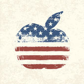 Apple vormige amerikaanse vlag. vector, eps10 — Stockvector