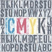 CMYK letterpress poster. Vector, EPS8 — Stock Vector