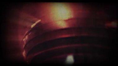 Vintage styled mirror ball closeup shot. — Stock Video
