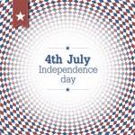 День независимости. 4 июля. Дизайн плаката с синими и красными c — Cтоковый вектор