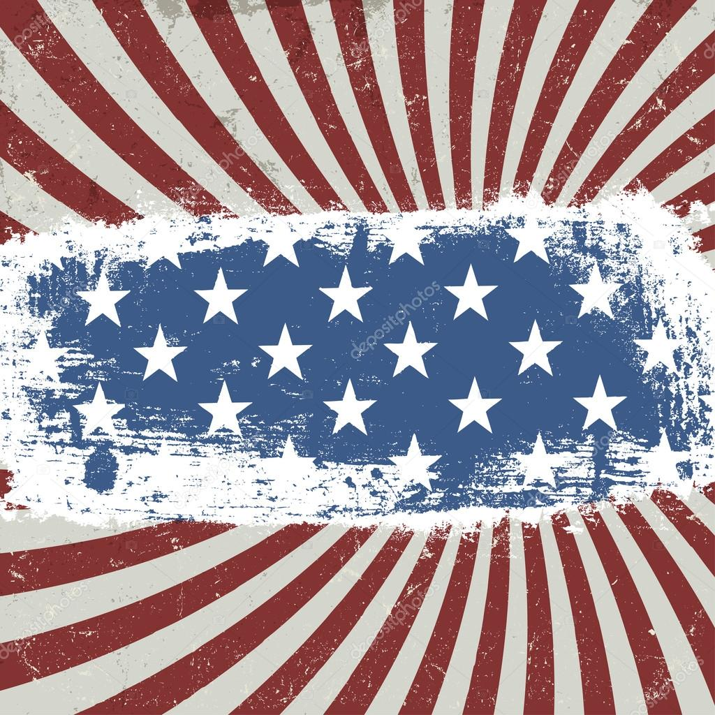 American Patriotic Background Vintage Style Vector Eps10 Stock Vector Pashabo 24188639