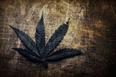 Vintage grunge cannabis leaf — Stock Photo