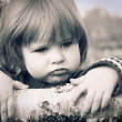 Distraught little girl — Stock Photo