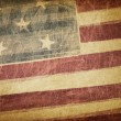 Stock Photo: Vintage americflag grunge background