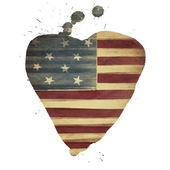 American flag yeart shaped. Vintage styled — Stock Photo