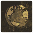 Earth planet grunge illustration. Vector, EPS10 - Imagen vectorial