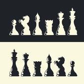 Chess pieces collection. Vector — Stock Vector