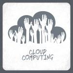 Cloud computing concept. Vector. — Stock Vector #26239497