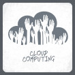 Cloud computing concept. Vector. — Stock Vector