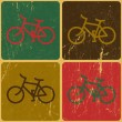 Retro bicycle background, vector — Imagen vectorial