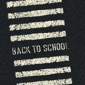 Voltar para a escola. conceito de segurança da estrada. vector. — Vetorial Stock
