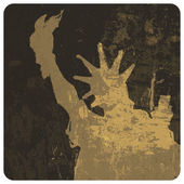 Liberty statue grunge illustration. Vector — Stock Vector