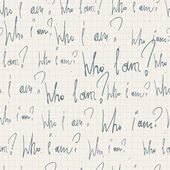 """Who i am?"" seamless pattern. With notepad paper texture. Vector — Vetorial Stock"