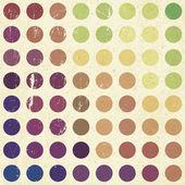 красочный ретро кругах фона, вектор — Cтоковый вектор