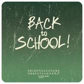 Back to school poster. Vector — Stock Vector