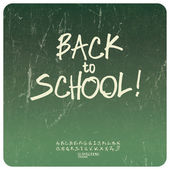 Back to school poster. Vector — Stock Vector