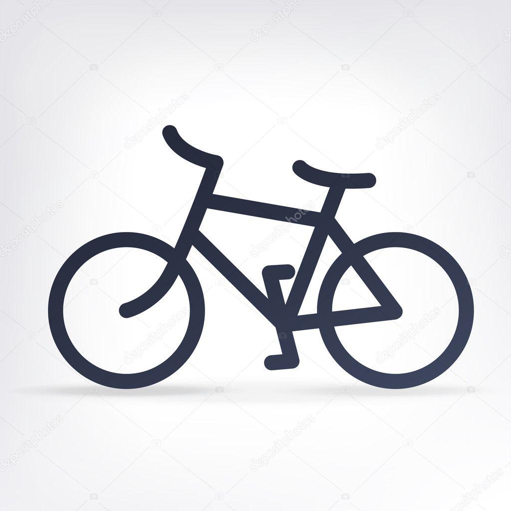 简约自行车的图标.矢量