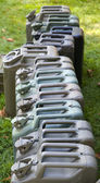 Row of Jerry Cans — Stock Photo