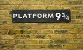 Platform nine and three quarters closeup — Stock Photo